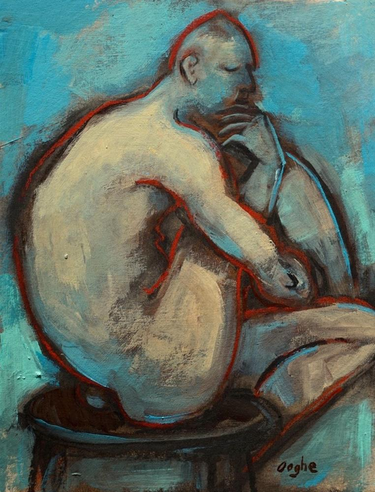 """Man in Blue"" original fine art by Angela Ooghe"