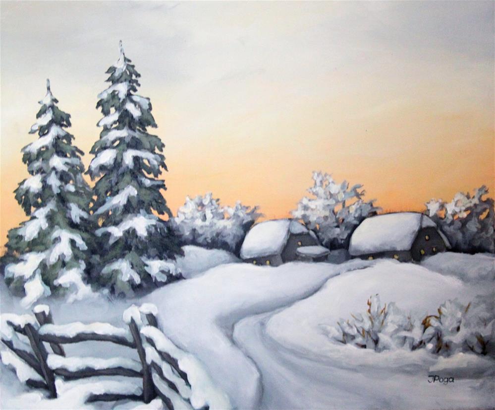 """Snow path"" original fine art by Inese Poga"
