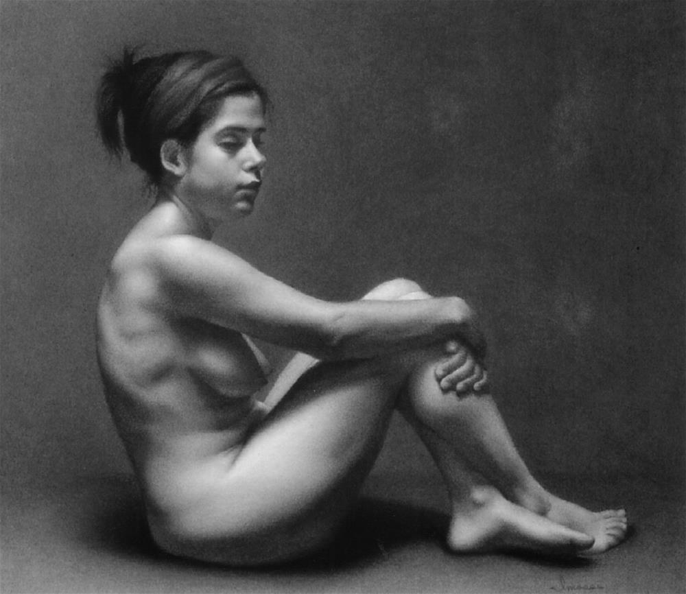 """Reclining Nude"" original fine art by Melissa Imossi"
