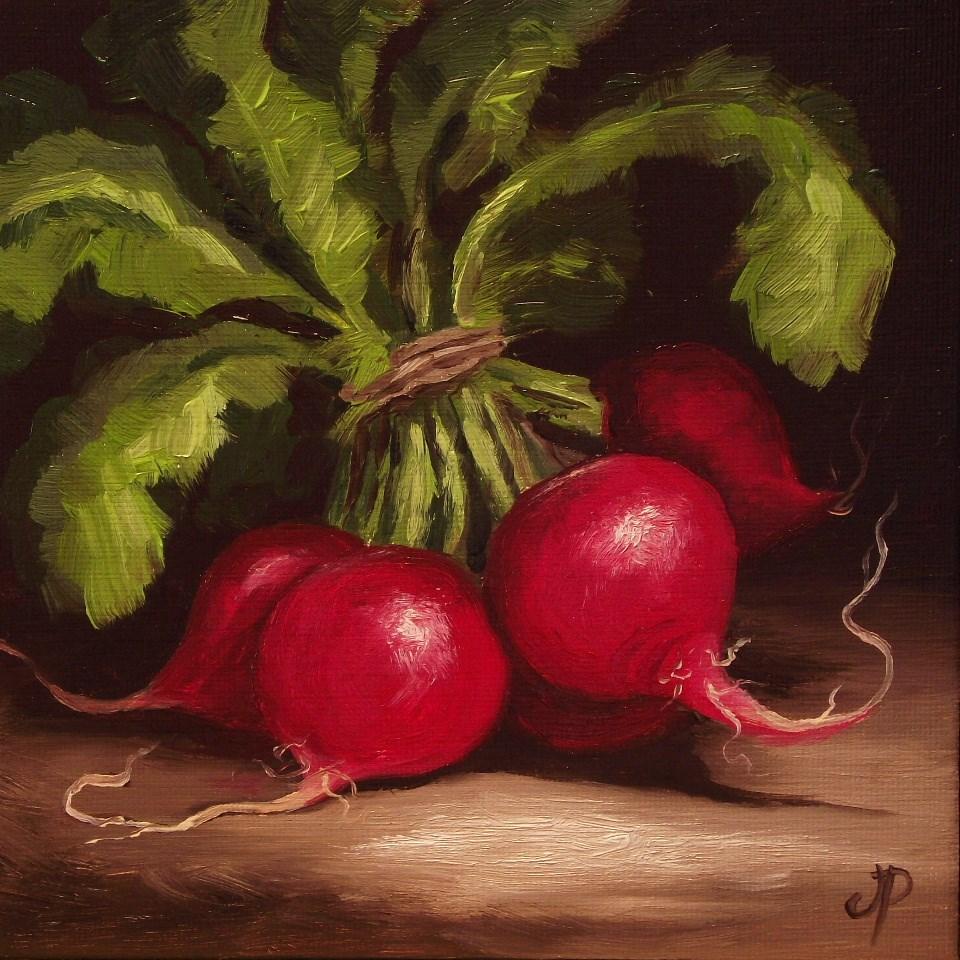 """Bunch of Radishes"" original fine art by Jane Palmer"