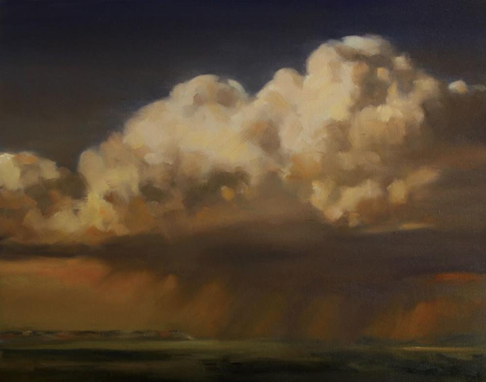 """Prairie Rain"" original fine art by Pamela Poll"