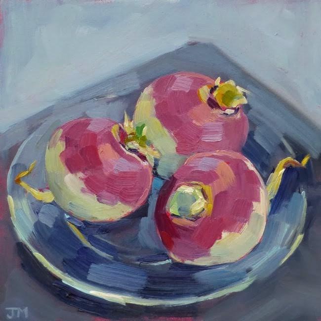 """Turnips"" original fine art by Jessica Miller"