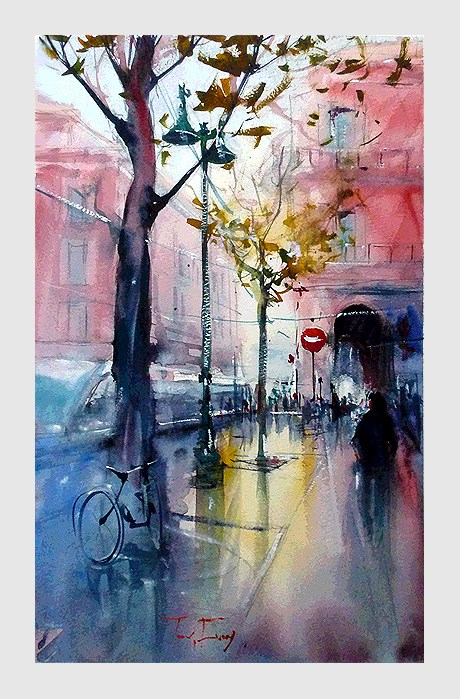 """Nizza, Stadt"" original fine art by Jurij Frey"