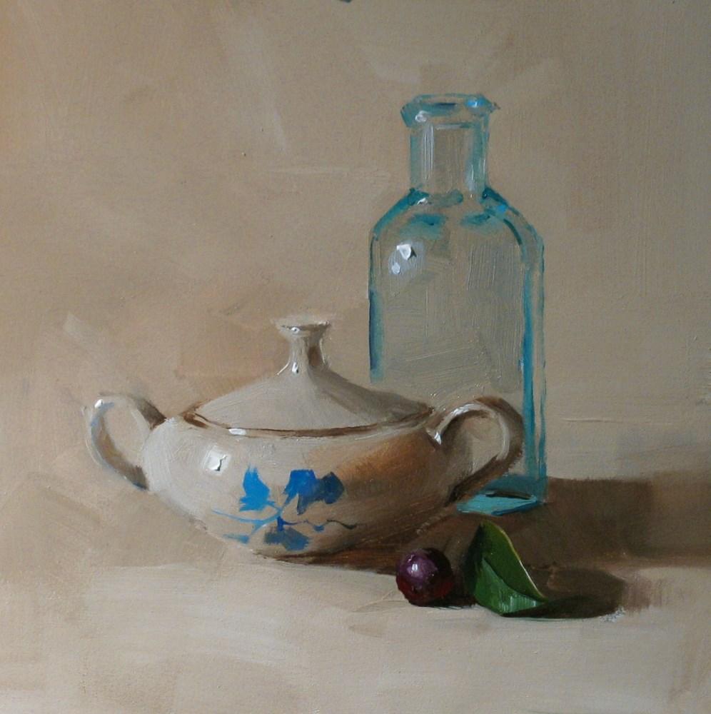 """""""Blue Flower"""" original fine art by Qiang Huang"""