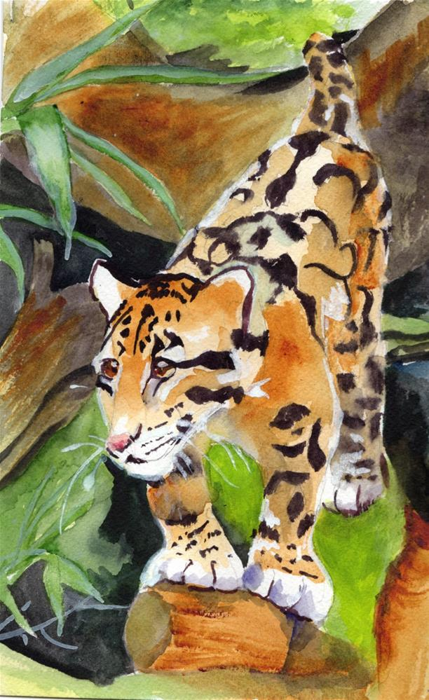 """Wild Cat"" original fine art by Bunny Griffeth"