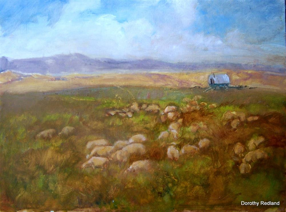 """The bed ground"" original fine art by Dorothy Redland"