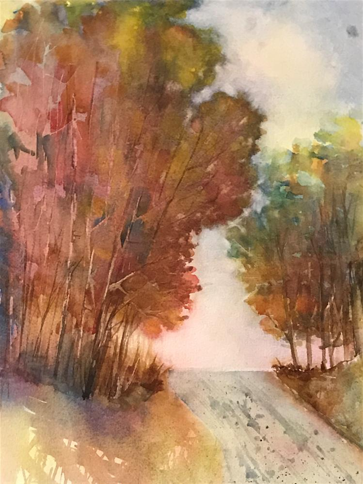 """trees are turning"" original fine art by Betty Argiros"