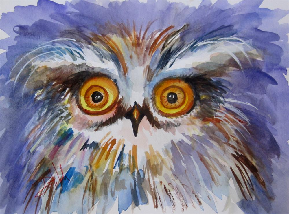 """Big Eyed Owl"" original fine art by Delilah Smith"