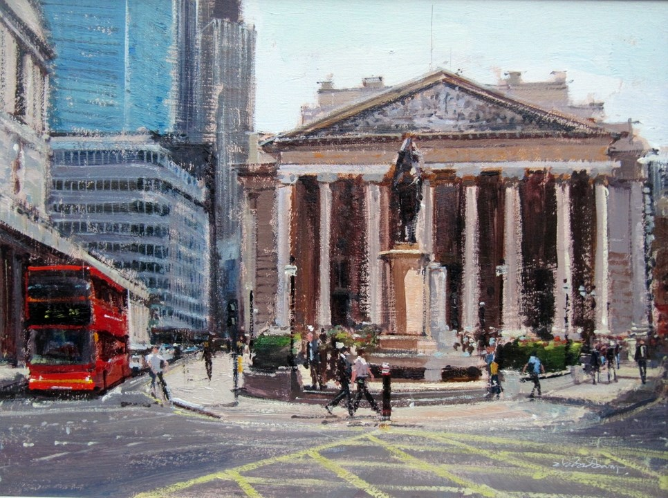 """Summerlight, City of London"" original fine art by Adebanji Alade"
