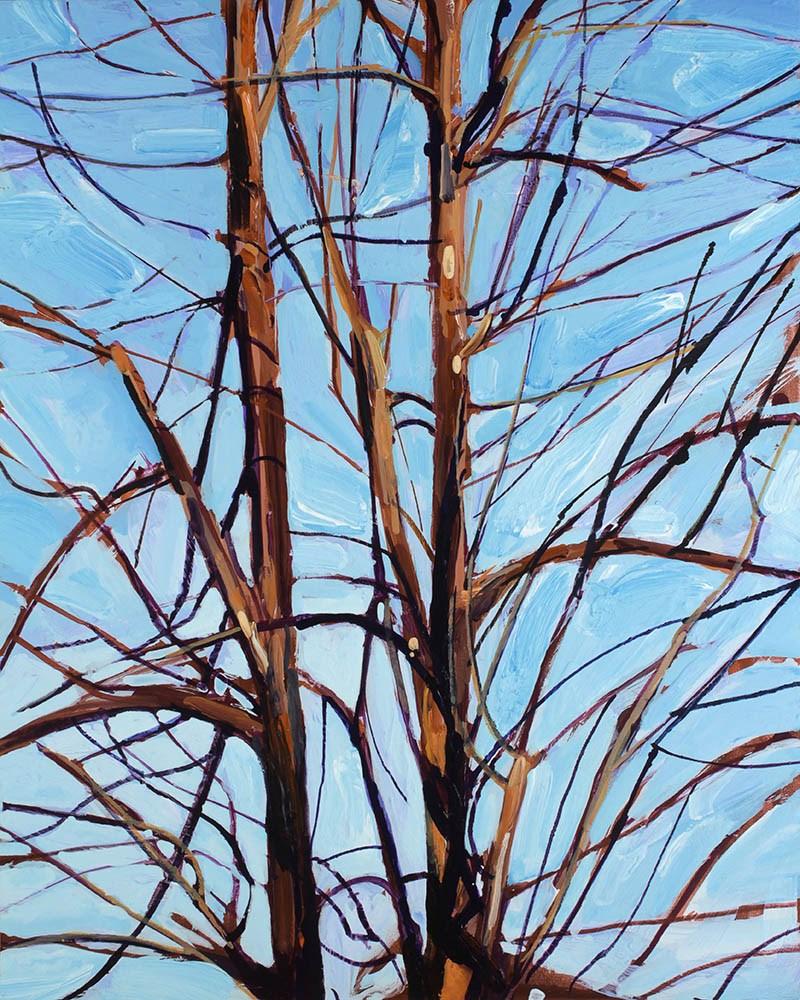 """Tree Composition"" original fine art by Chris Breier"