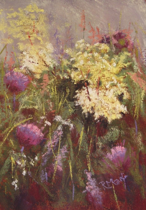 """Filipendula"" original fine art by Ruth Mann"