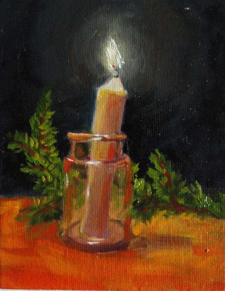 """A Little Light in the Darkness"" original fine art by Cietha Wilson"
