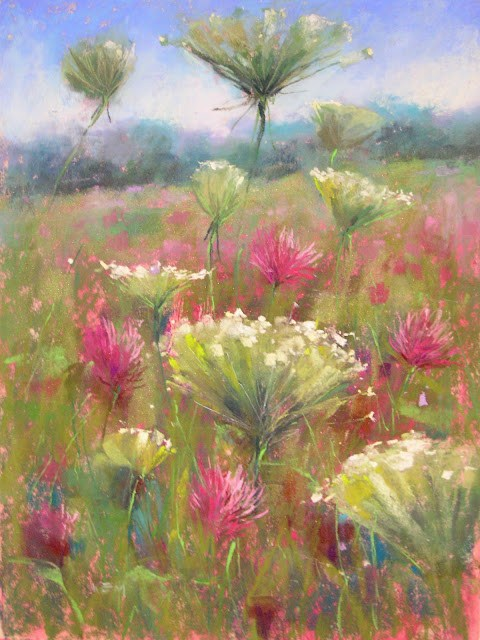 """The Secret to Painting a Wildflower"" original fine art by Karen Margulis"