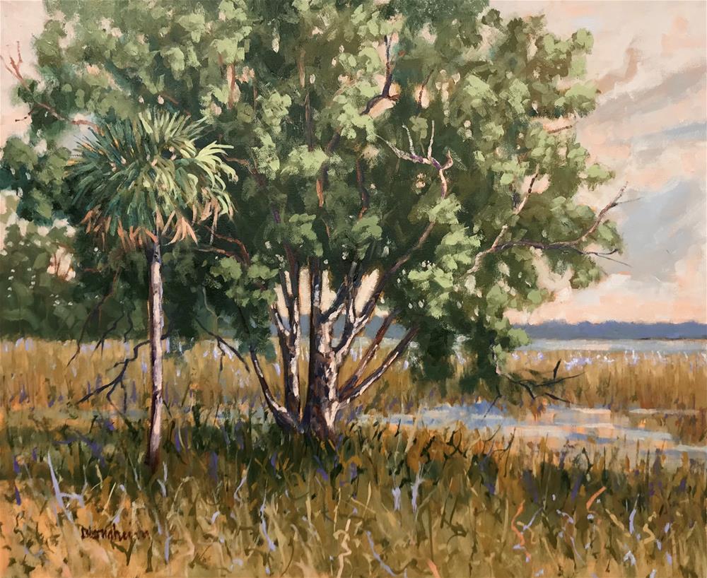 """""""St Augustine Marsh View"""" original fine art by Linda Blondheim"""