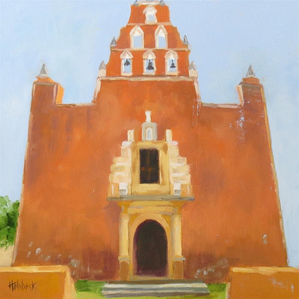 """Yucatan Church"" original fine art by Pam Holnback"