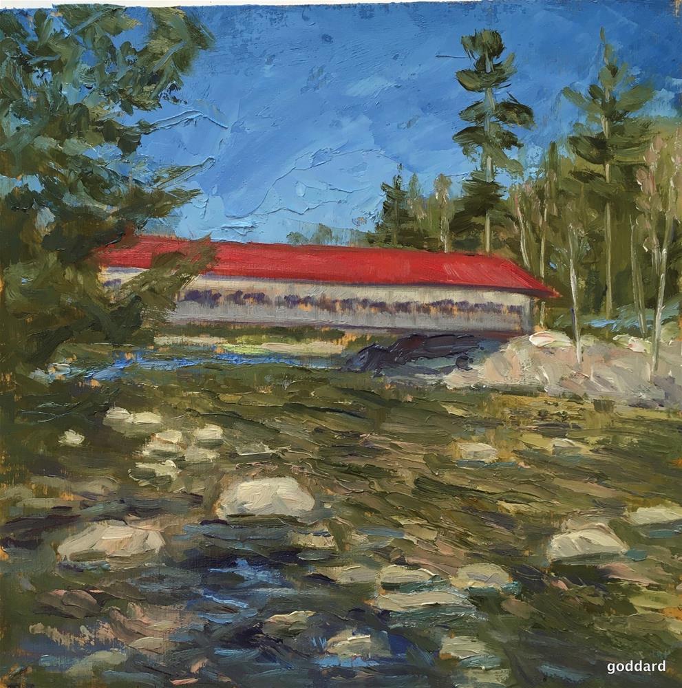 """Covered Bridge"" original fine art by Shari Goddard Shambaugh"