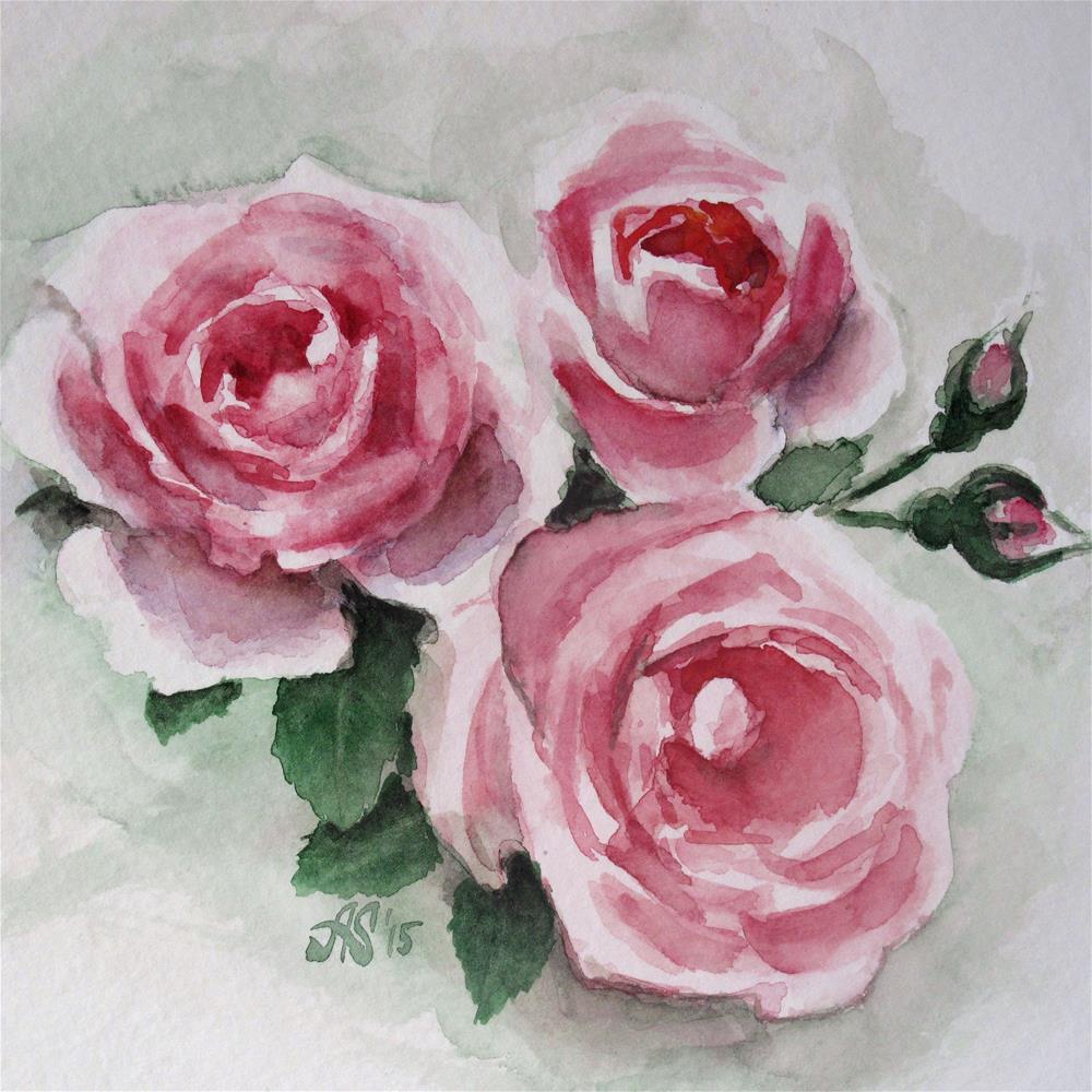 """Three plus two"" original fine art by Anna Starkova"