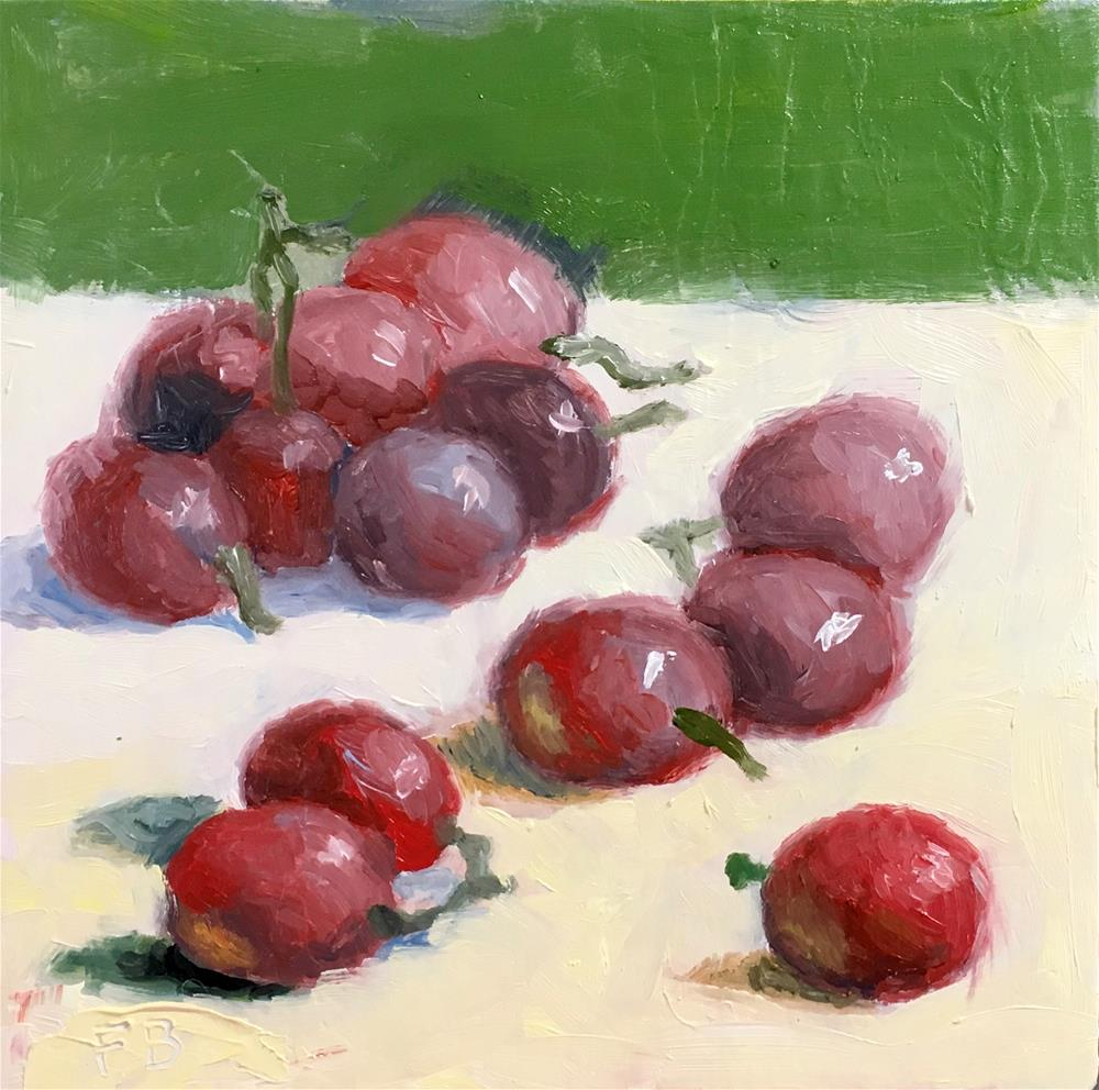 """""""222 Community Of Grapes"""" original fine art by Fred Bell"""