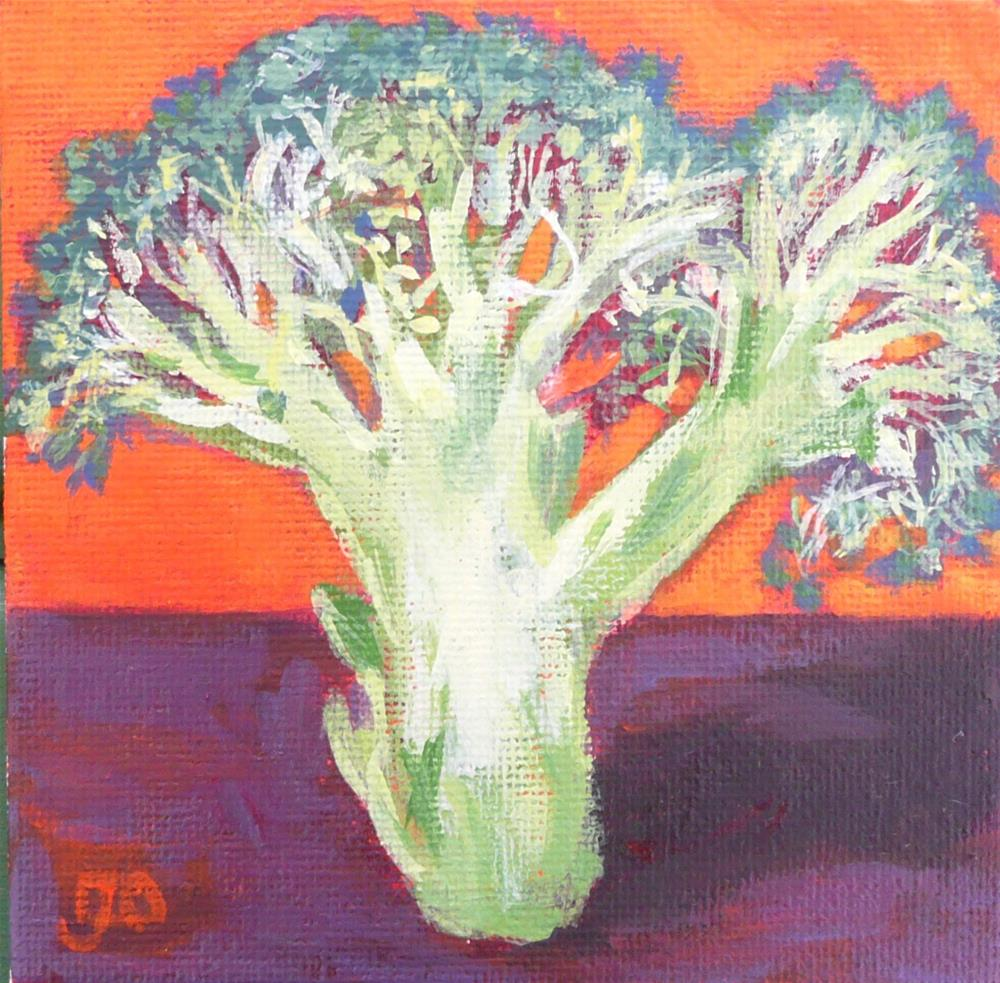 """""""The Broccoli Tree"""" original fine art by Leanne Owen"""