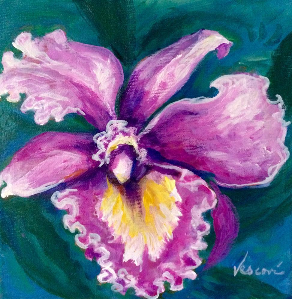 """Orchid 1"" original fine art by Valerie Vescovi"