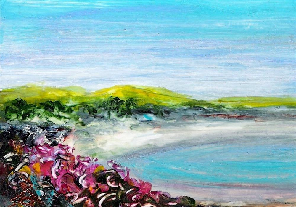 """3199 - FLOWER BAY - ACEO Series"" original fine art by Sea Dean"