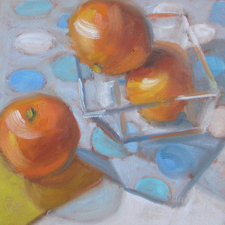 """""""Blue Dots 447"""" original fine art by Laura  Buxo"""
