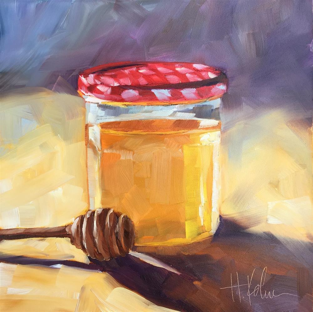 """Oh, Honey"" original fine art by Hallie Kohn"