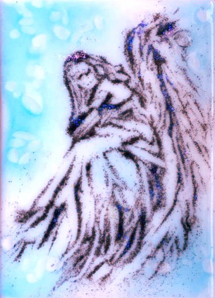 """""""Angel in blue"""" original fine art by Kristen Dukat"""