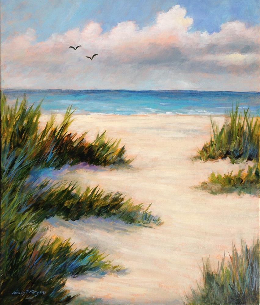 """Barefoot Beach"" original fine art by Nancy F. Morgan"
