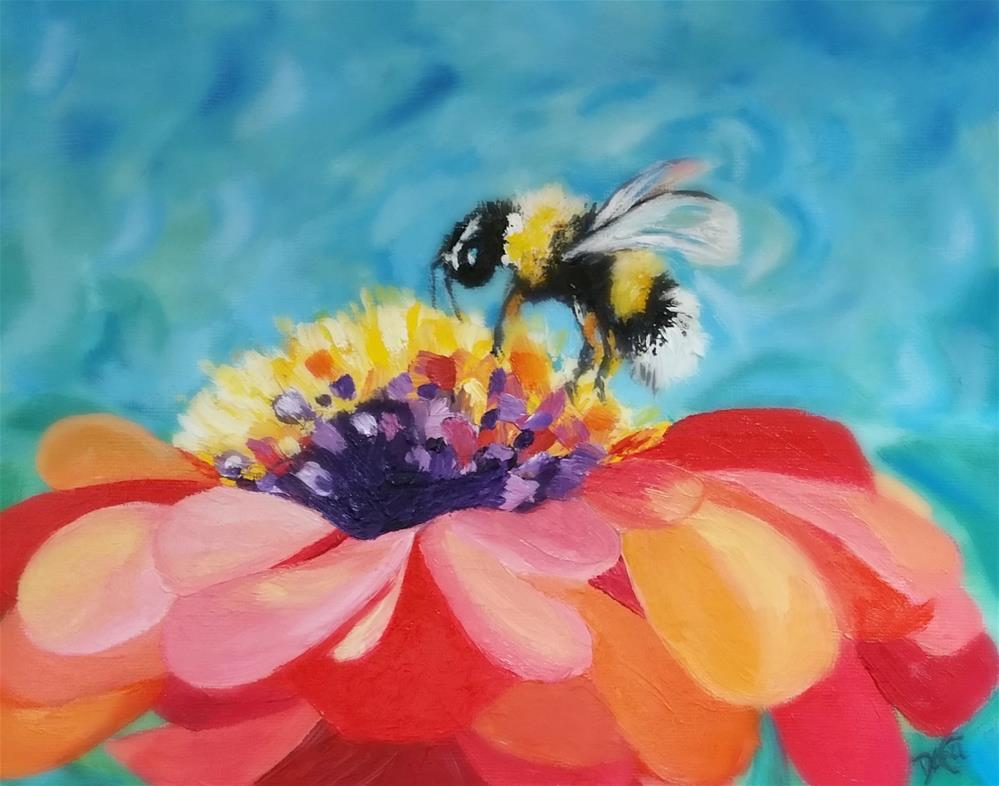 """BEE2"" original fine art by Dana C"