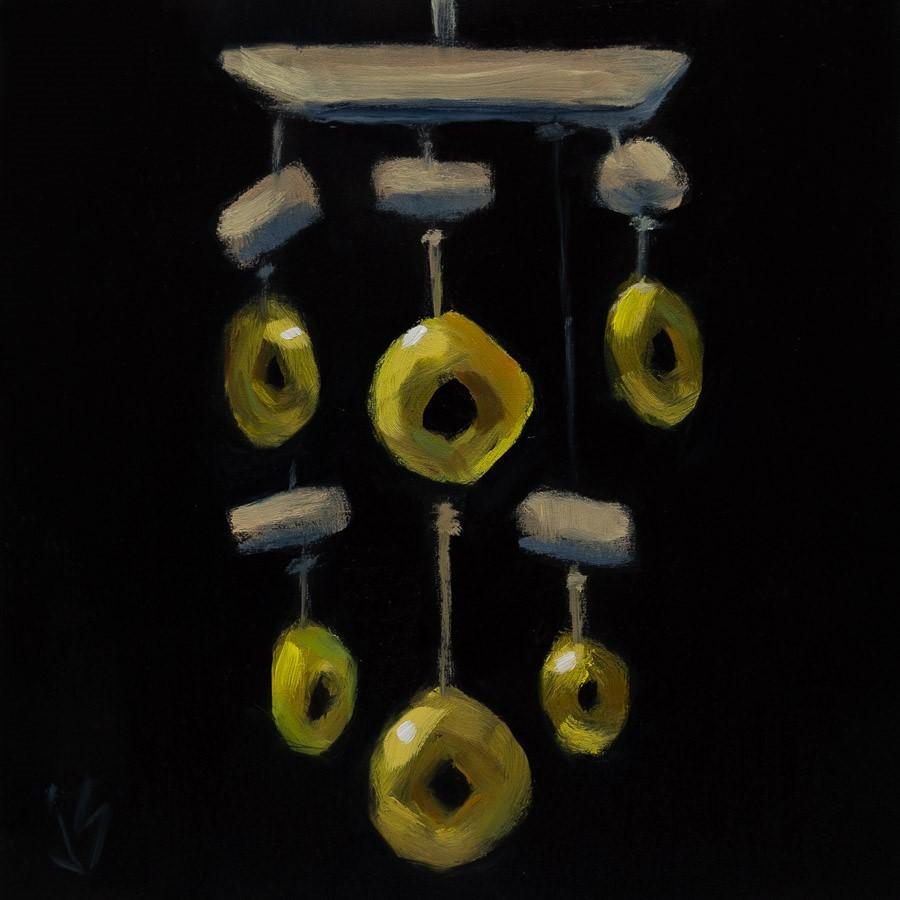 """Lucky Coins"" original fine art by Johnna Schelling"