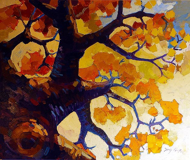 """Goldener Herbst"" original fine art by Jurij Frey"