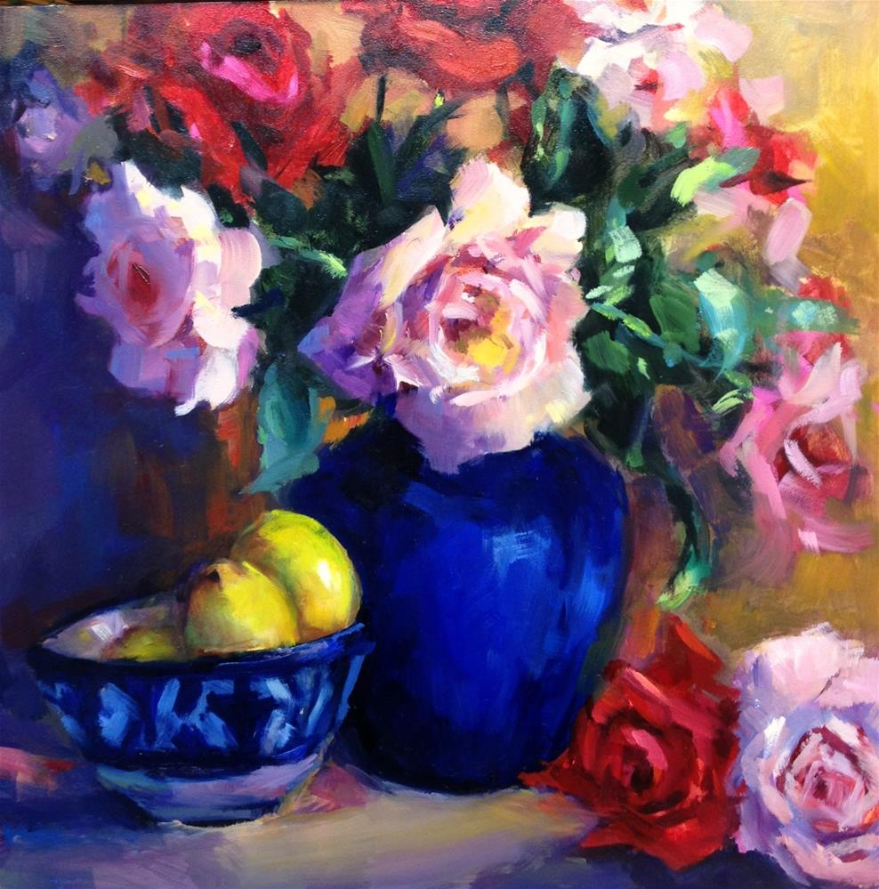 """Rose Divine"" original fine art by Laurie Johnson Lepkowska"