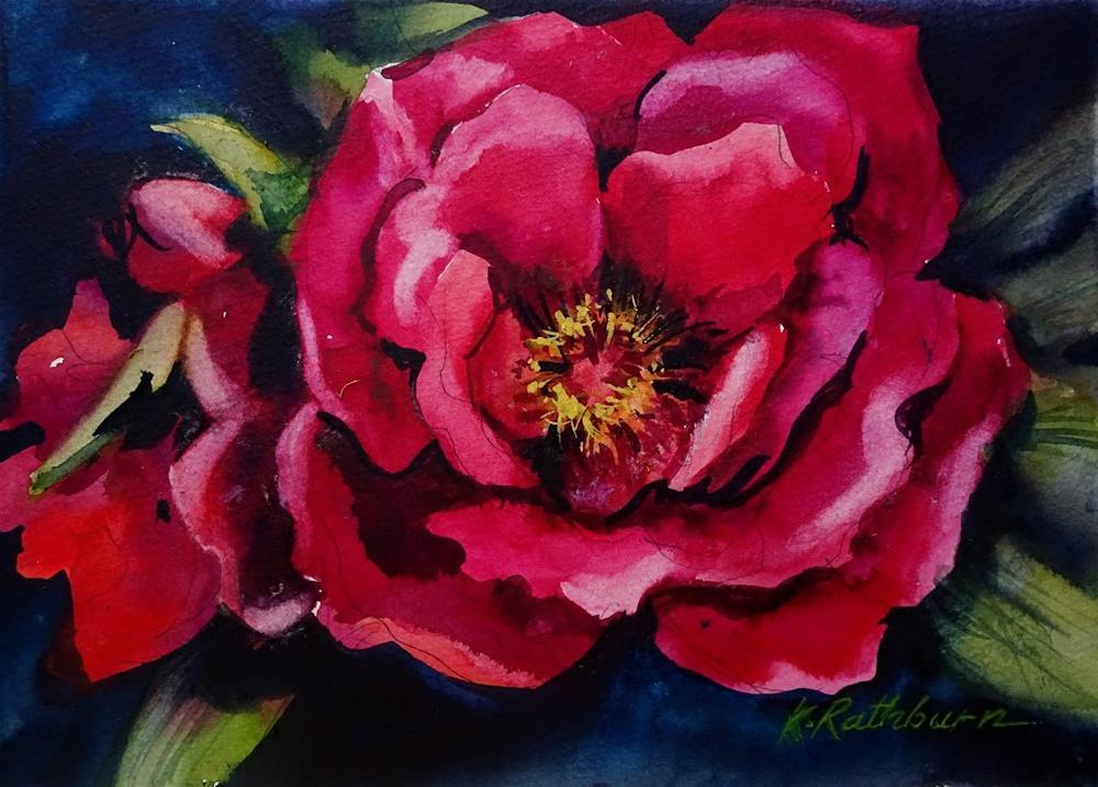 """Peony"" original fine art by Kathy Los-Rathburn"