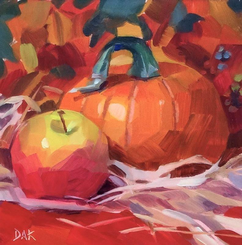 """Fall Harvest"" original fine art by Deborah Ann Kirkeeide"