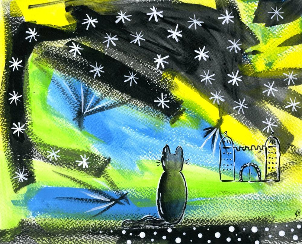 """Following the Light"" original fine art by Kali Parsons"
