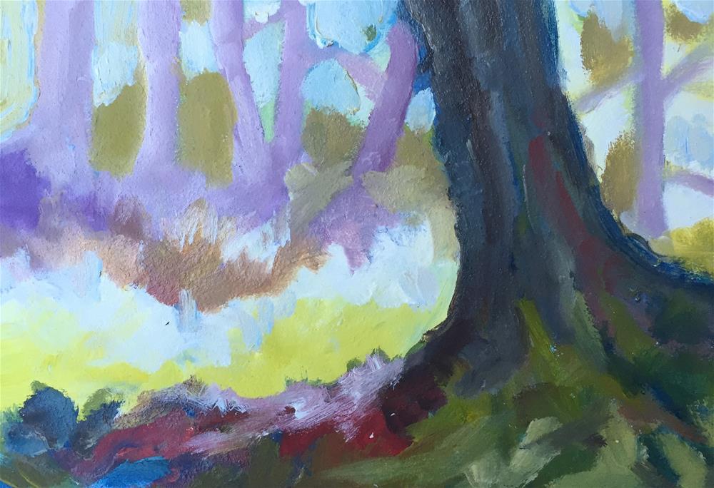 """Forest"" original fine art by Sally Posner"
