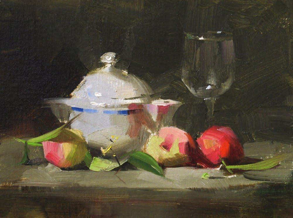 """""""Peach Season"""" original fine art by Qiang Huang"""