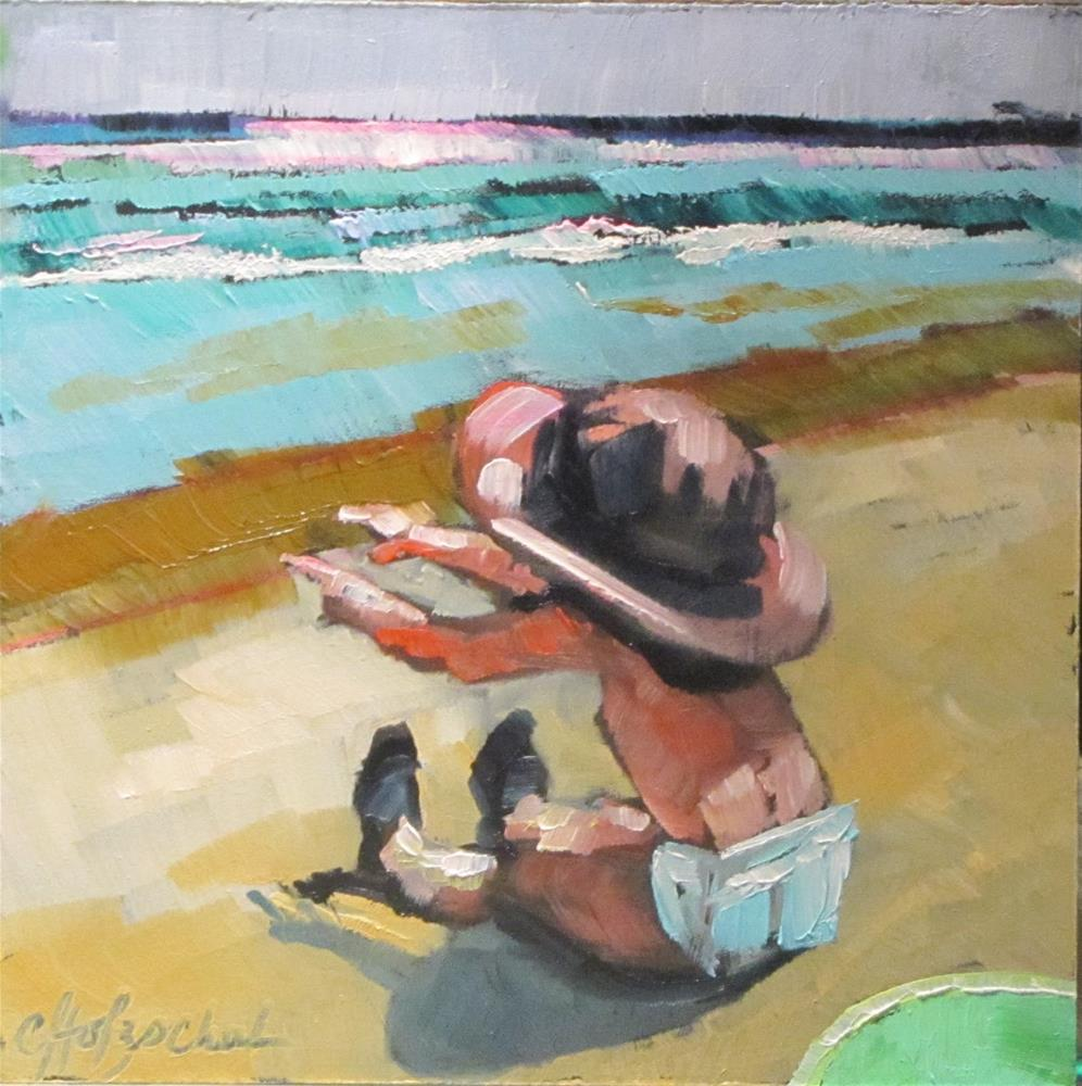 """At the beach"" original fine art by Christine Holzschuh"