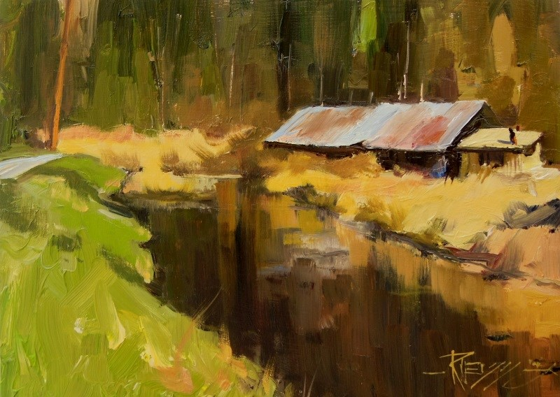 """Spring Dike"" original fine art by Robin Weiss"