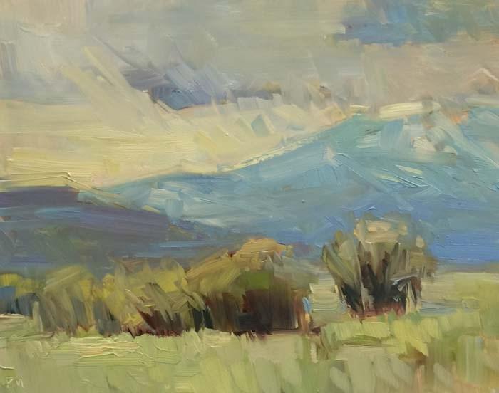 """The Feathery-Heathery Day"" original fine art by Patti McNutt"