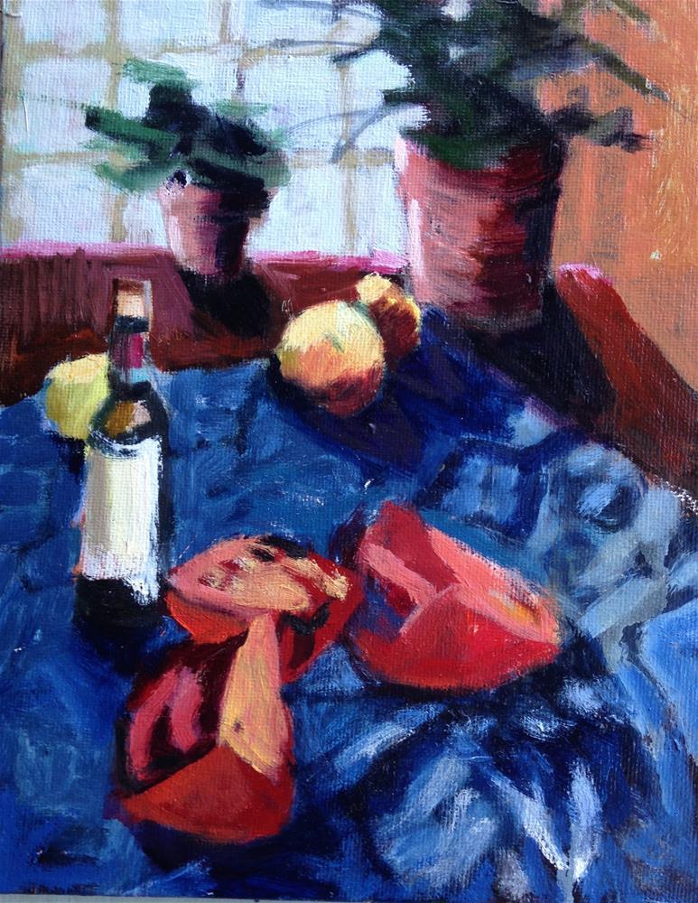 """Cut Up Tomato"" original fine art by Pamela Hoffmeister"