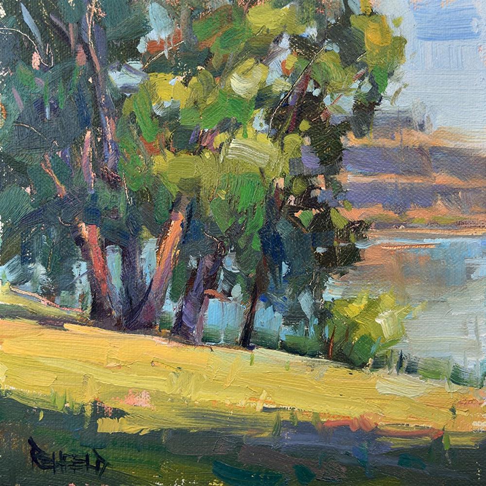 """Horsethief Lake Park"" original fine art by Cathleen Rehfeld"