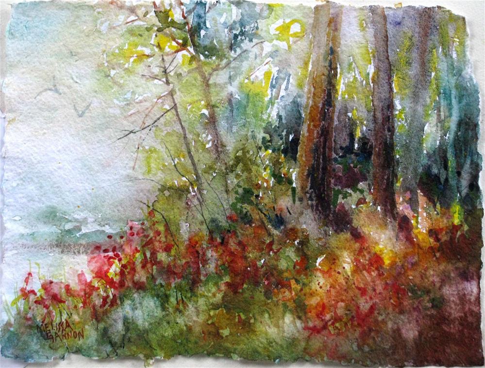 """Warmth in the Trees"" original fine art by Melissa Gannon"