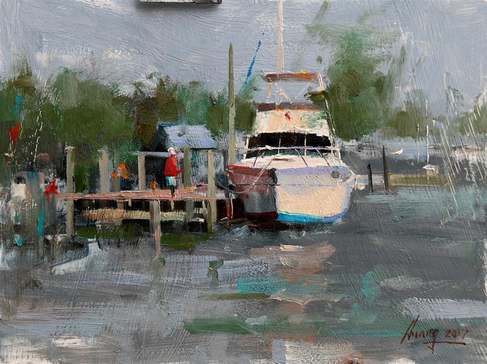 """Demo at Easton 2017 3"" original fine art by Qiang Huang"