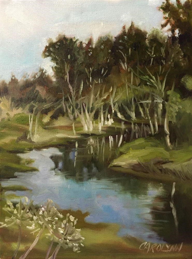 """Creek Crescent Beach"" original fine art by Carolynn Doan"