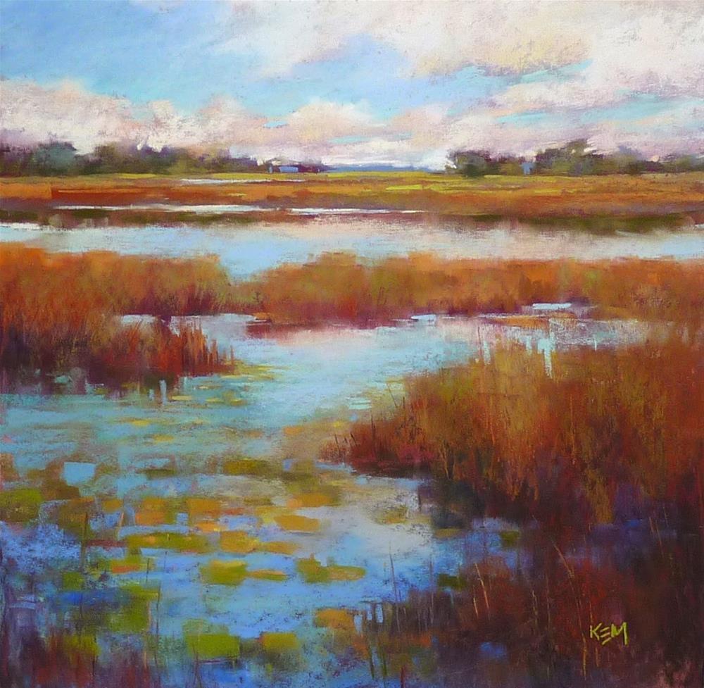 """""""Liz Haywood-Sullivan Workshop Report ... Day Three"""" original fine art by Karen Margulis"""