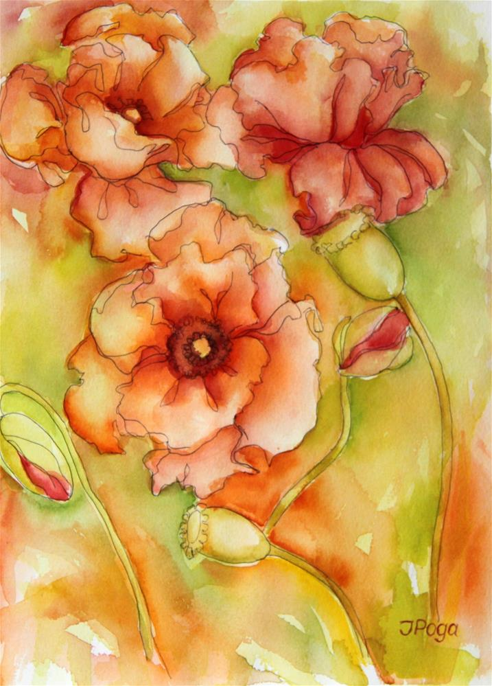 """High summer"" original fine art by Inese Poga"