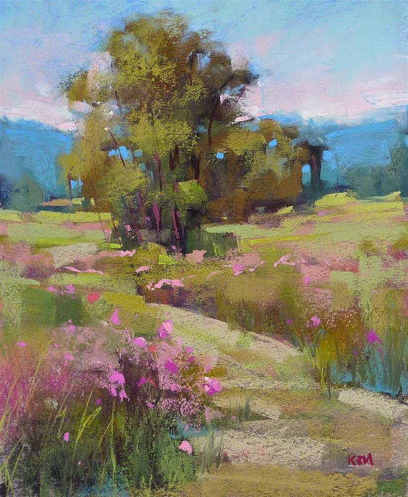 """Monday Mini Pastel Demo:Mountain Meadow with Alcohol Wash"" original fine art by Karen Margulis"