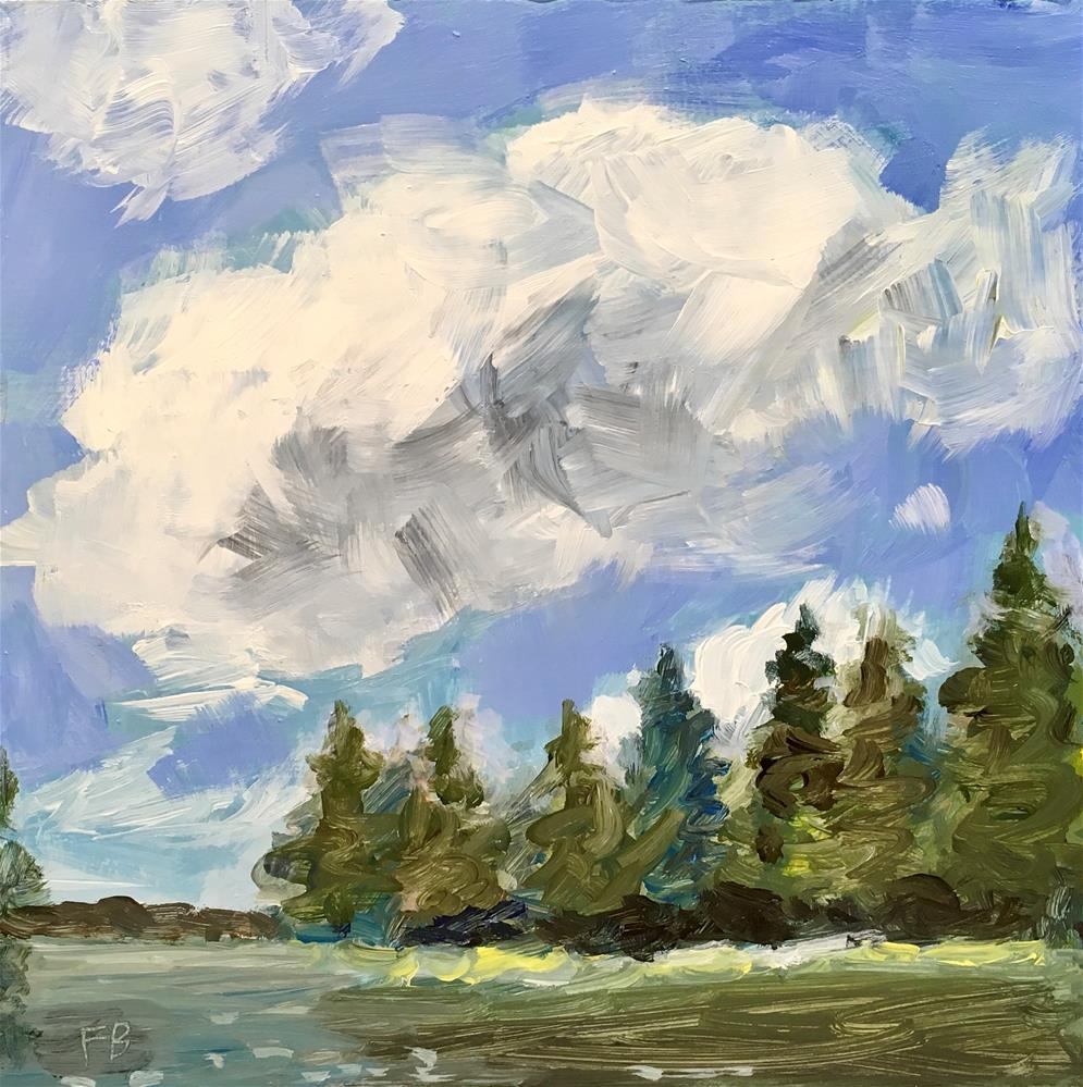 """""""108 Lake Landscape Painting"""" original fine art by Fred Bell"""